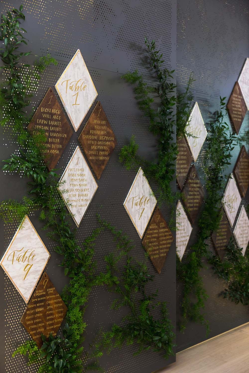 This Toronto Wedding Brings Nature to the City - Seating Chart