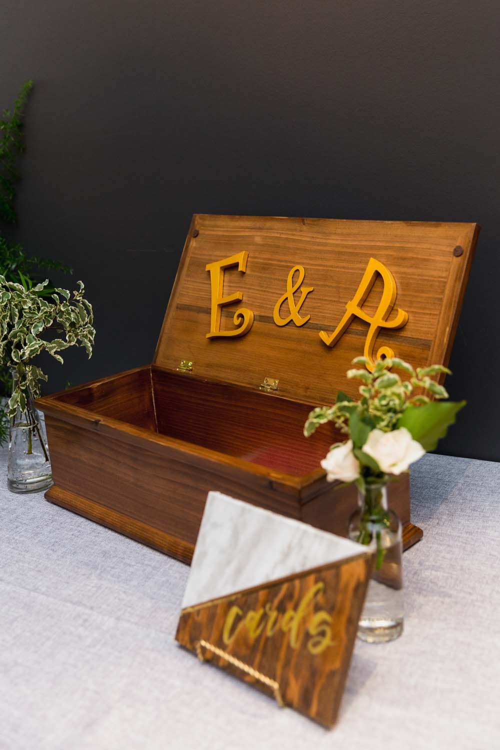 This Toronto Wedding Brings Nature to the City - Card Box