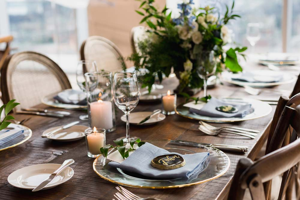 This Toronto Wedding Brings Nature to the City - Table Setting