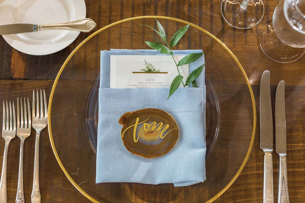 This Toronto Wedding Brings Nature to the City - Place Setting