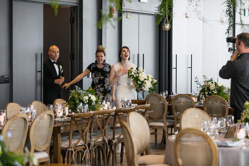 This Toronto Wedding Brings Nature to the City - Entrance