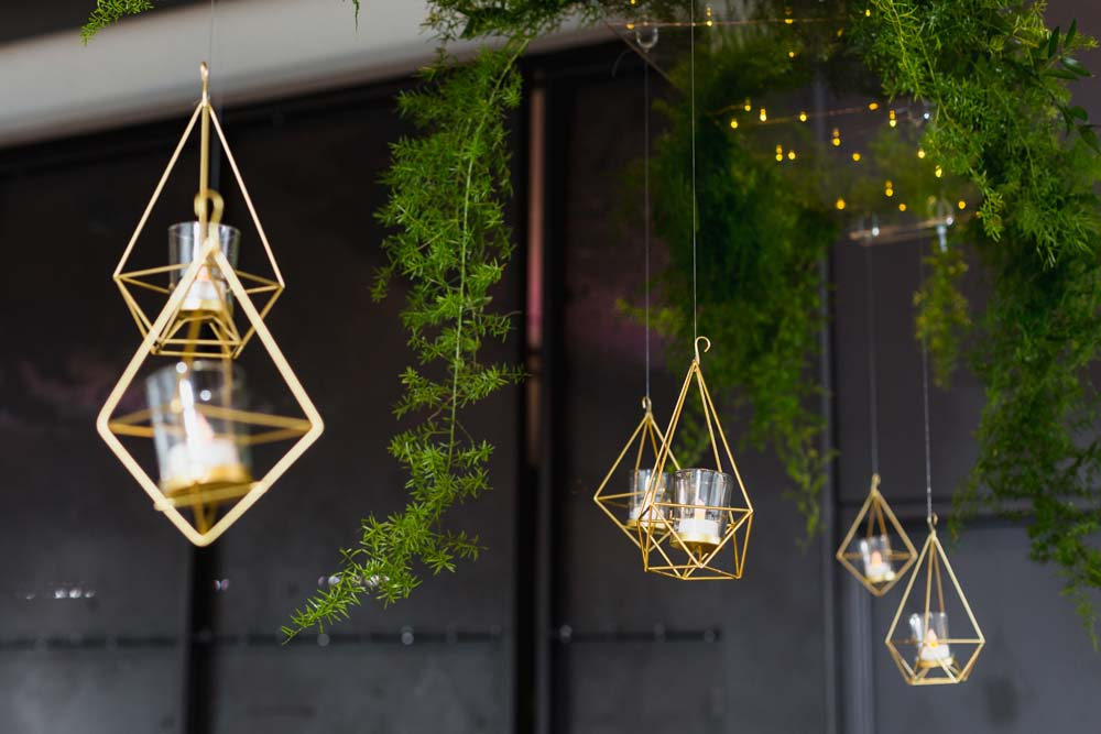 This Toronto Wedding Brings Nature to the City - Hanging Lights