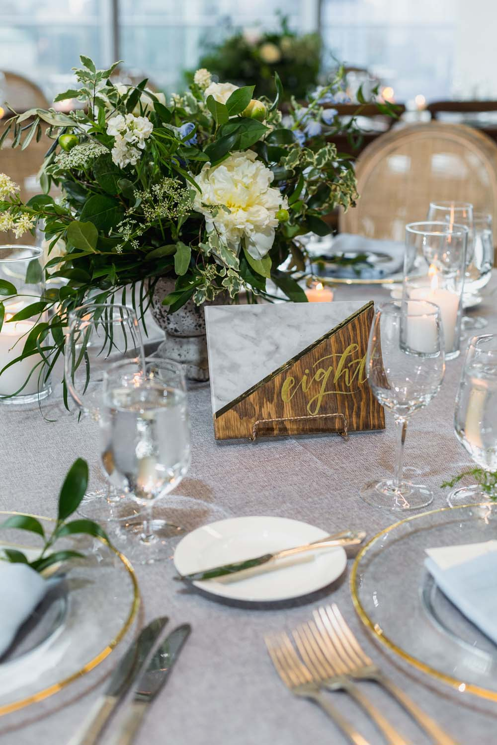 This Toronto Wedding Brings Nature to the City - Centrepiece
