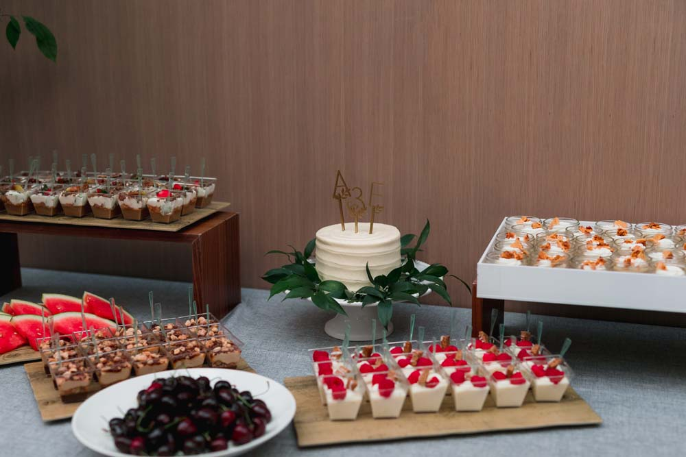 This Toronto Wedding Brings Nature to the City - Desserts