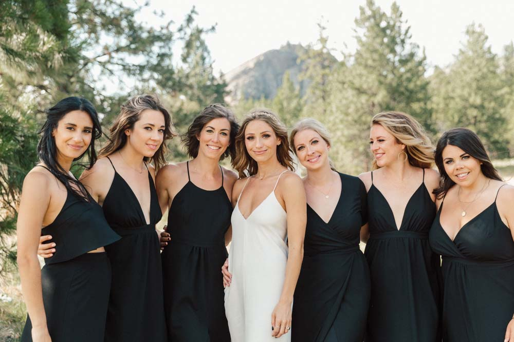 Jill Lansky of The August Diaries' Modern-Chic Wedding In British Columbia - bride and bridal party