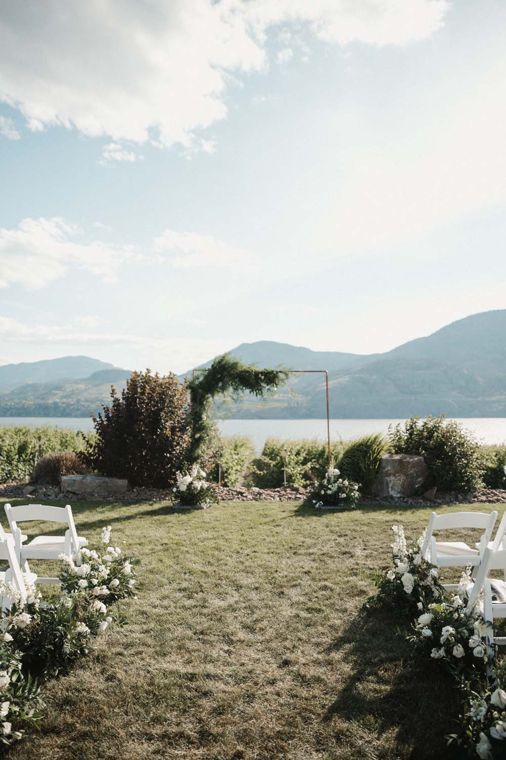 Jill Lansky of The August Diaries' Modern-Chic Wedding In British Columbia - ceremony venue