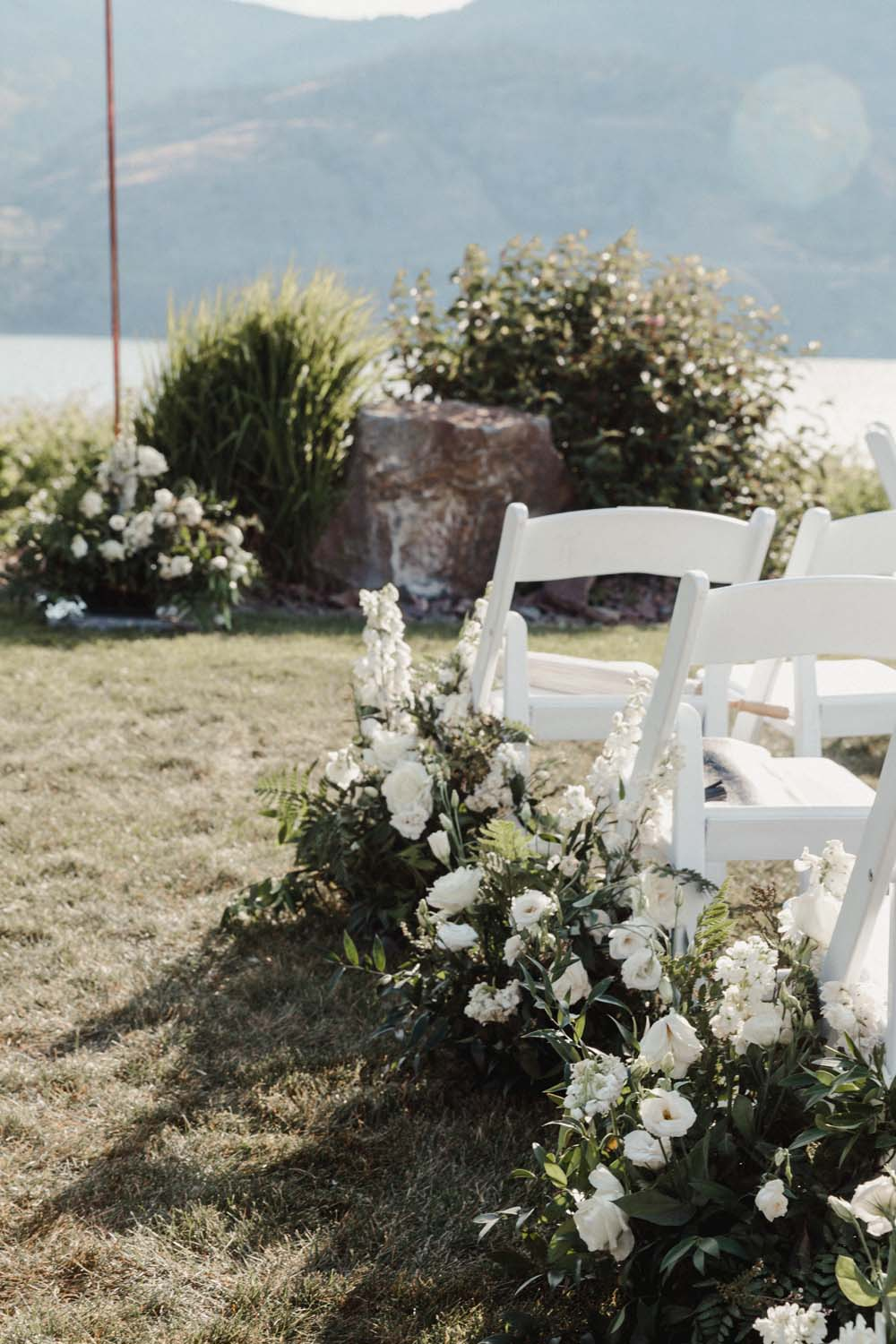 Jill Lansky of The August Diaries' Modern-Chic Wedding In British Columbia - aisle decor