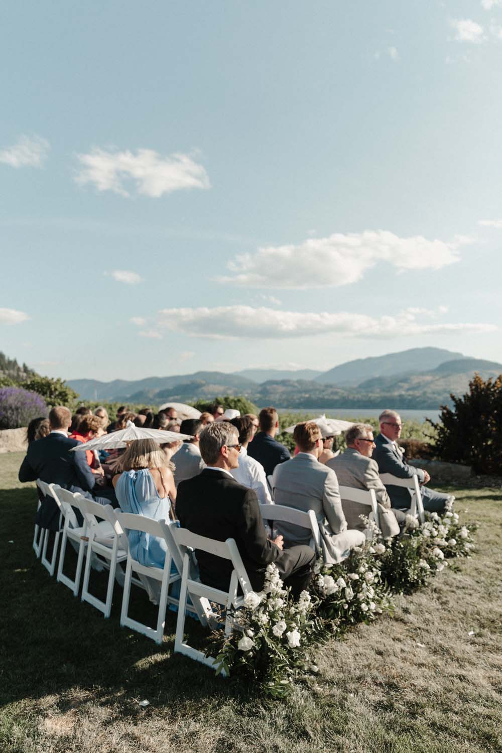 Jill Lansky of The August Diaries' Modern-Chic Wedding In British Columbia - guests
