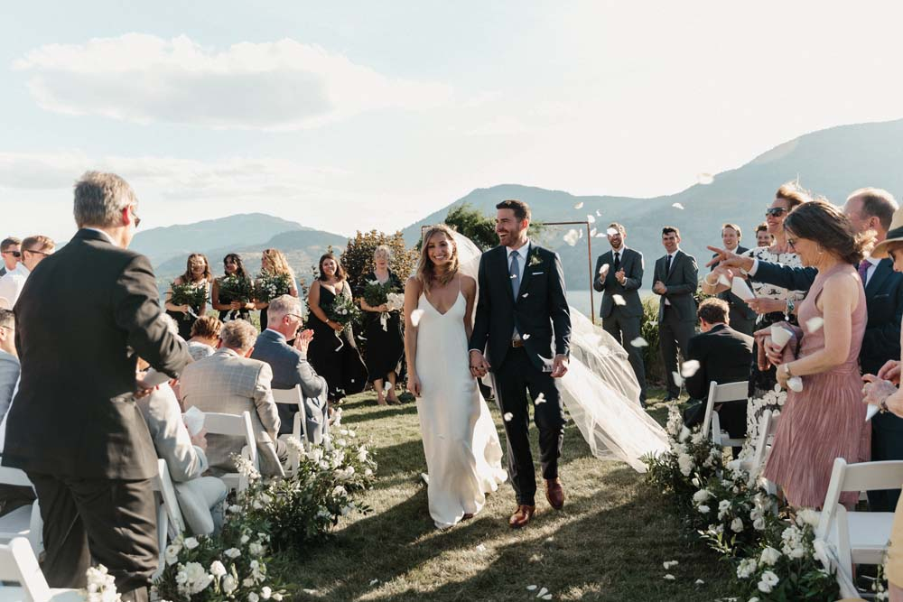 Jill Lansky of The August Diaries' Modern-Chic Wedding In British Columbia - ceremony