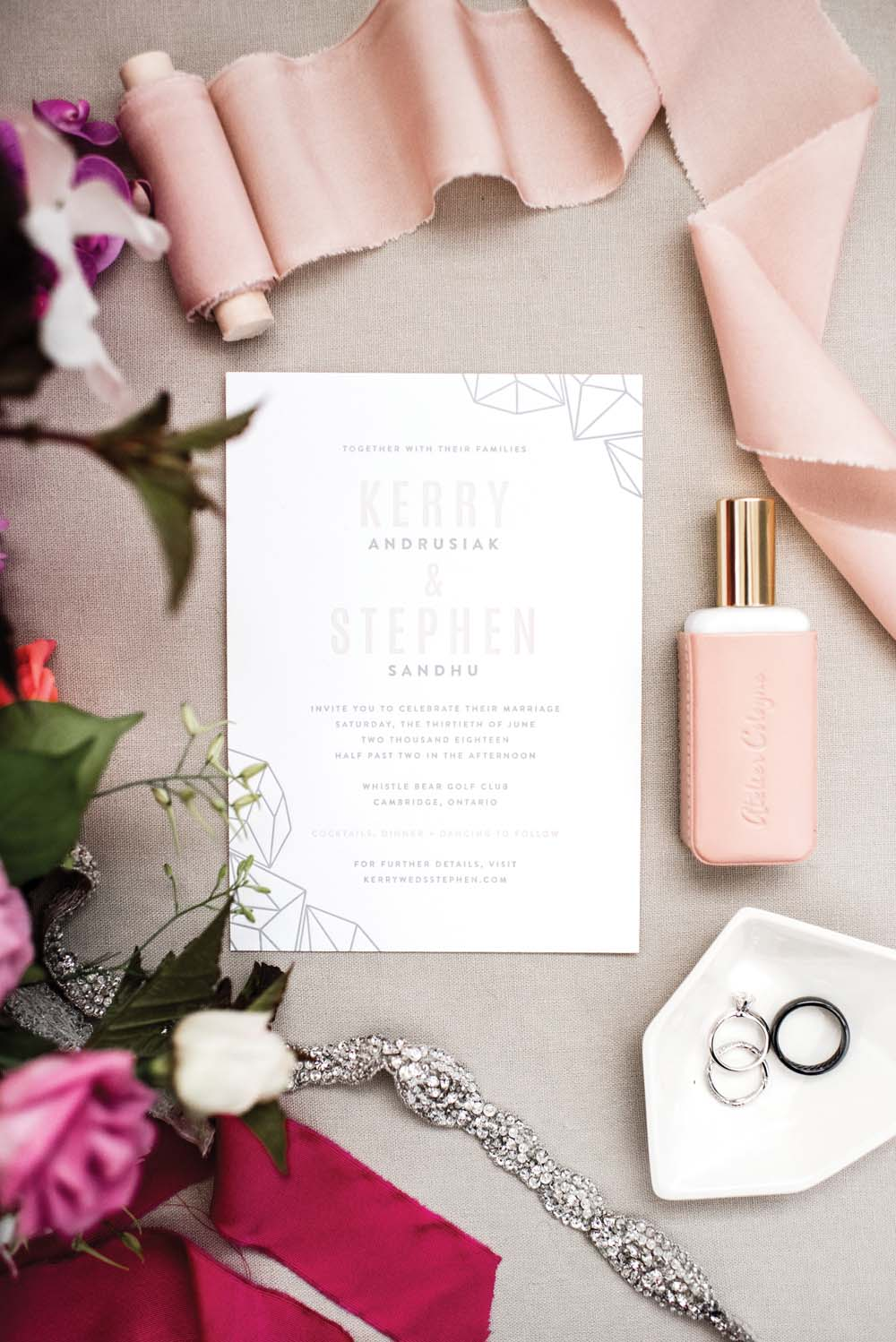 A Bold and Industrial Chic Wedding in Cambridge, Ontario - Invite