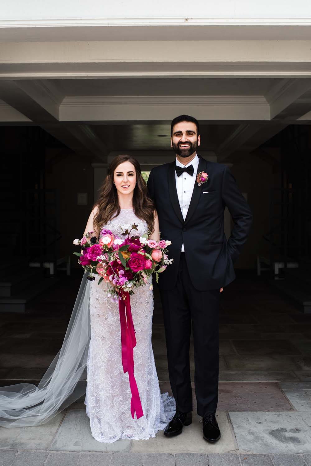 A Bold and Industrial Chic Wedding in Cambridge, Ontario - Couple