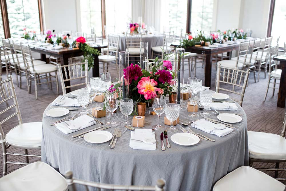 A Bold and Industrial Chic Wedding in Cambridge, Ontario - Tables