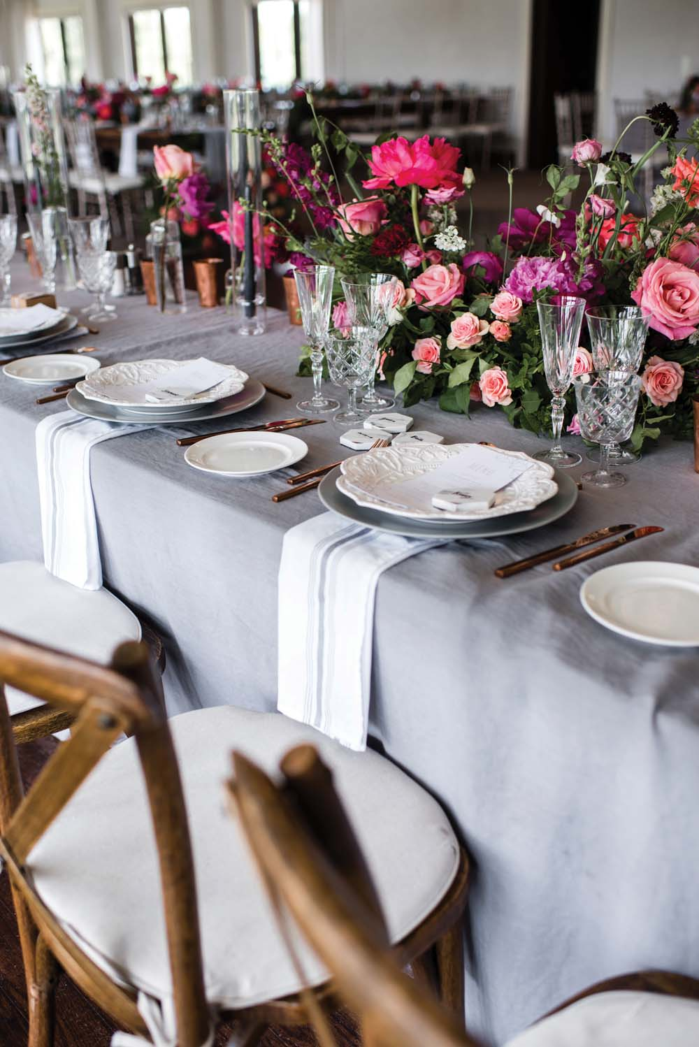 A Bold and Industrial Chic Wedding in Cambridge, Ontario - Table