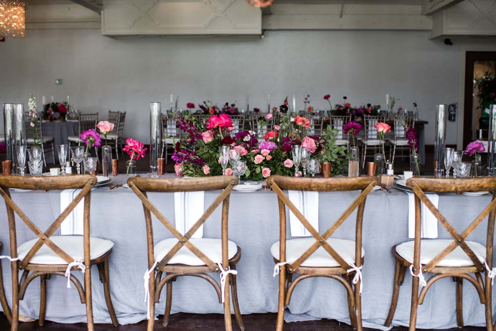 A Bold and Industrial Chic Wedding in Cambridge, Ontario - Seats