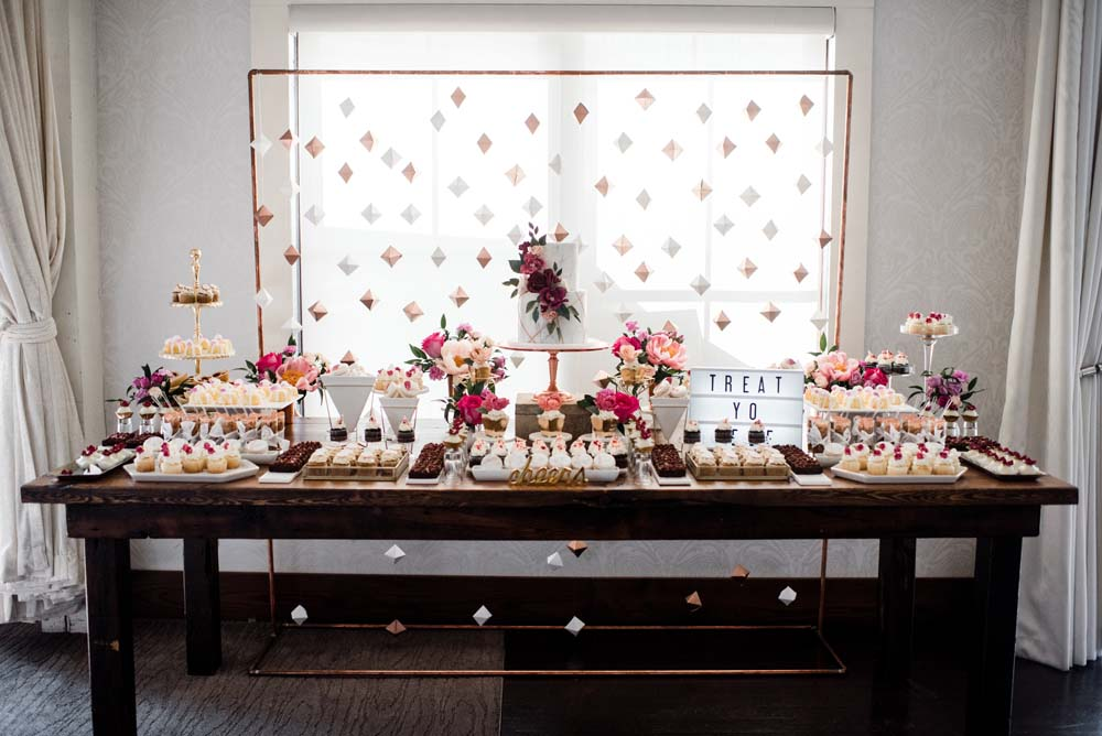 A Bold and Industrial Chic Wedding in Cambridge, Ontario - Dessert Table