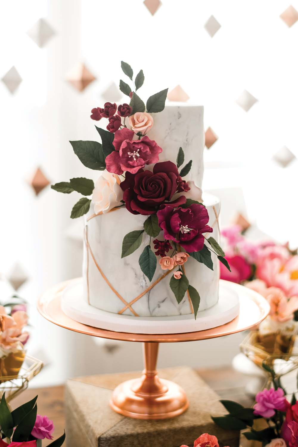A Bold and Industrial Chic Wedding in Cambridge, Ontario - Cake