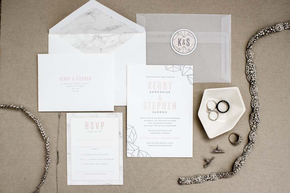 A Bold and Industrial Chic Wedding in Cambridge, Ontario - Stationery