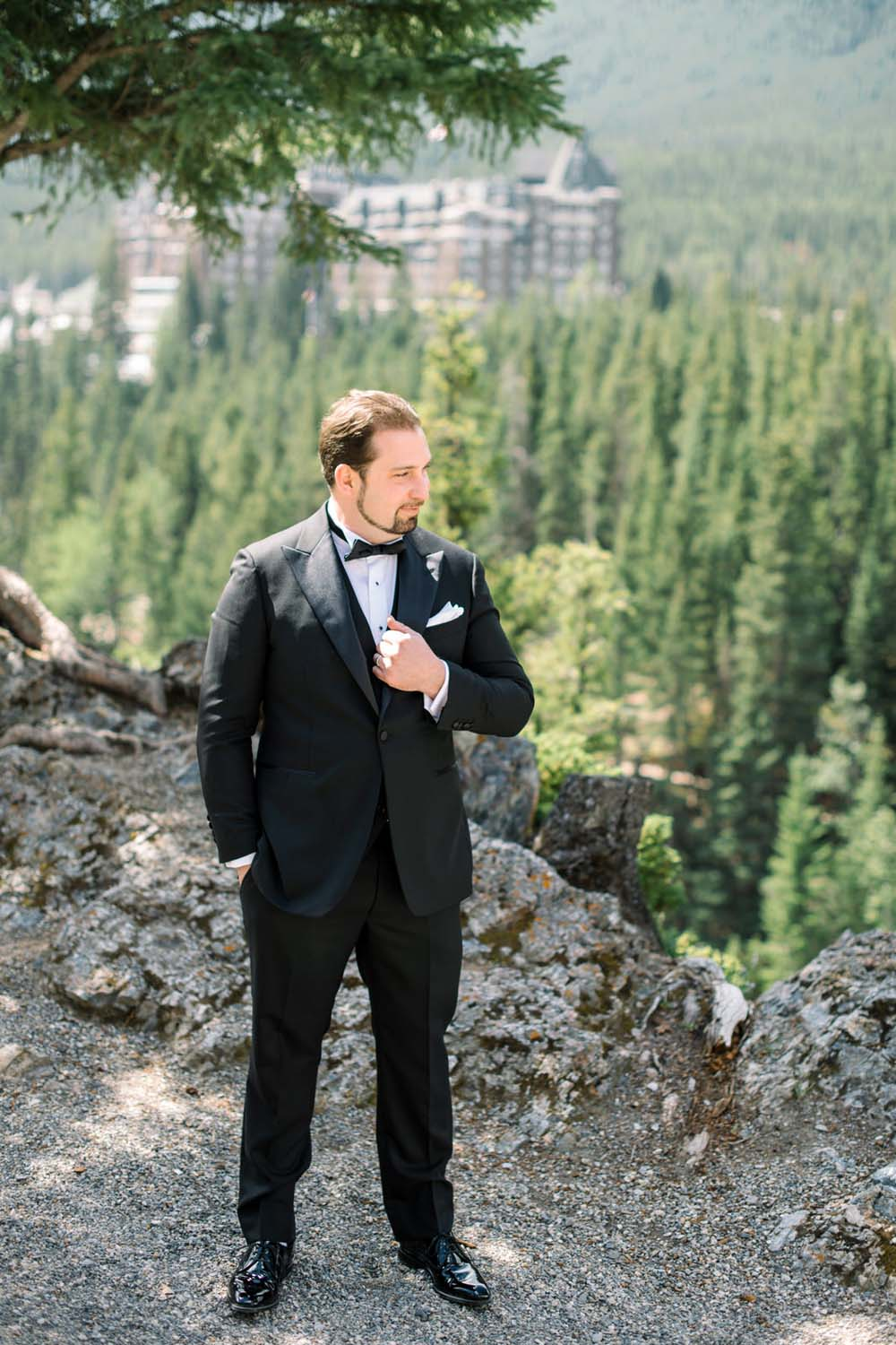 A Regal Fairytale Wedding in Banff, Alberta - Groom