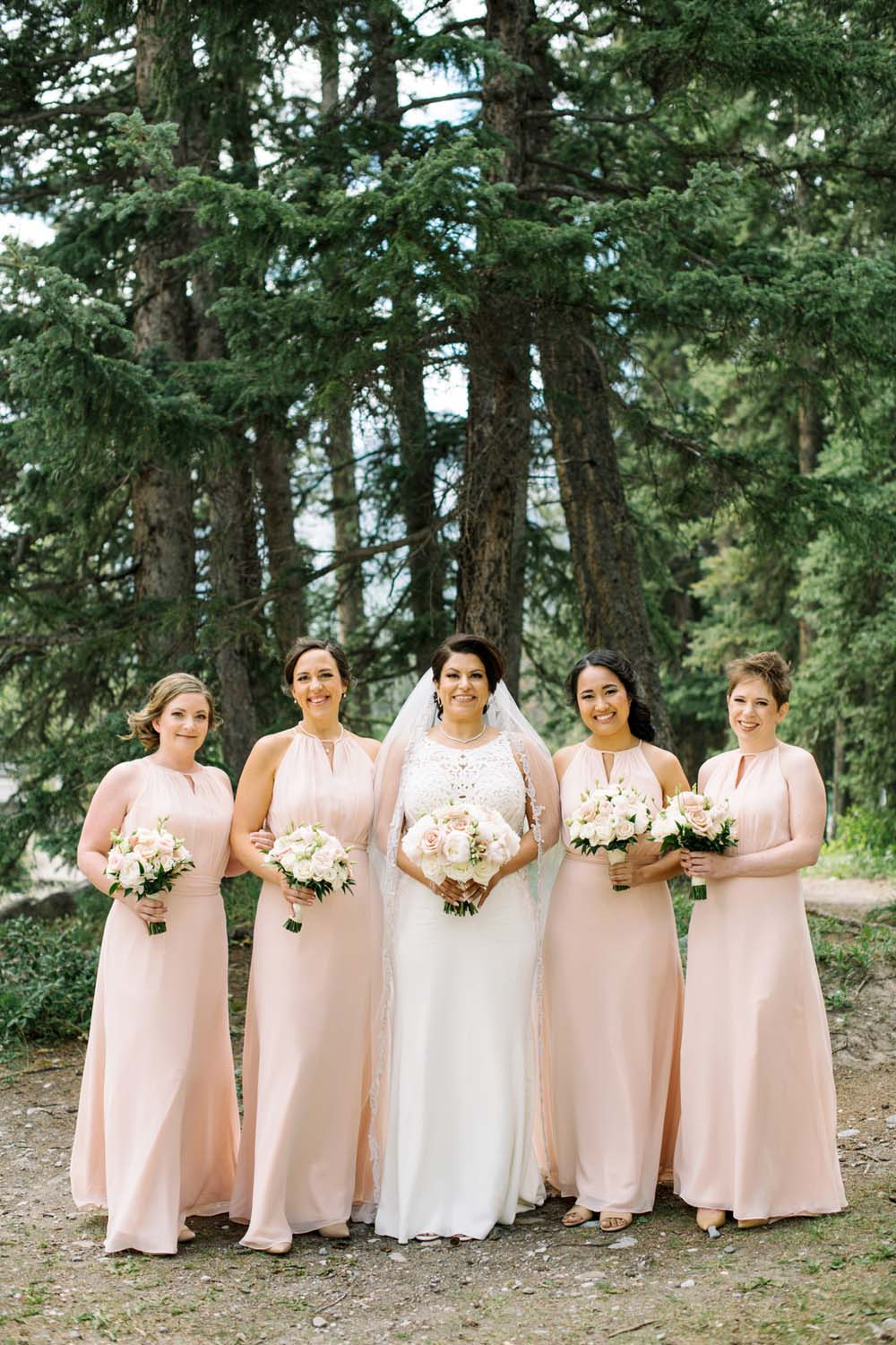 A Regal Fairytale Wedding in Banff, Alberta - Bridesmaids