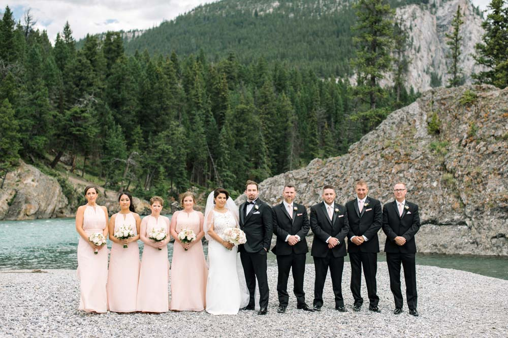 A Regal Fairytale Wedding in Banff, Alberta - Bridal Party
