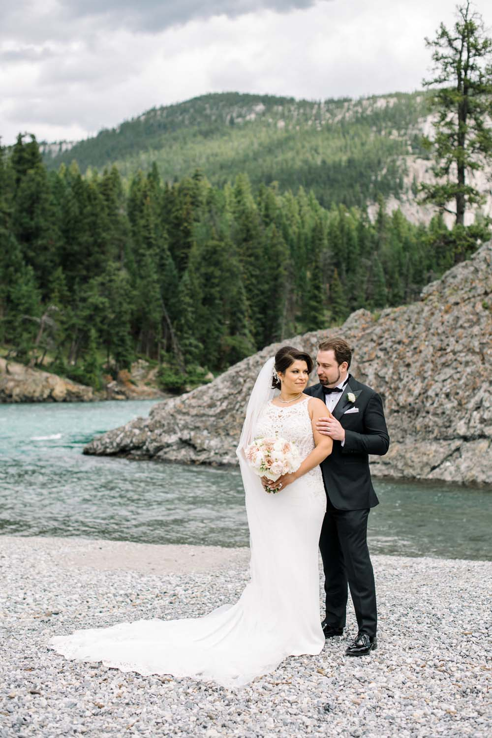 A Regal Fairytale Wedding in Banff, Alberta - Couple