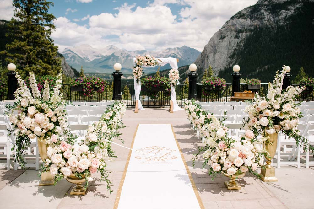 A Regal Fairytale Wedding in Banff, Alberta - Ceremony