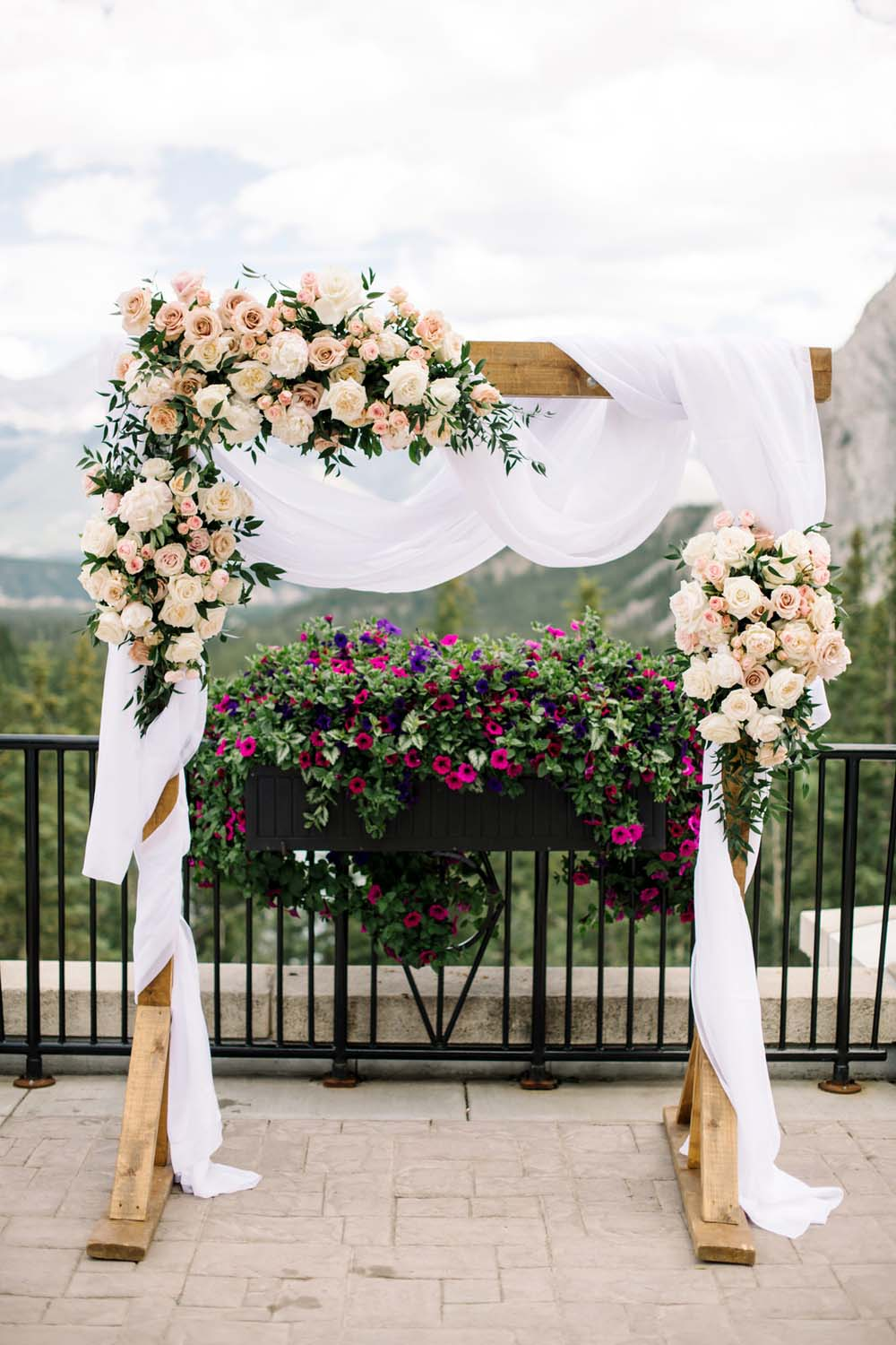 A Regal Fairytale Wedding in Banff, Alberta - Arch