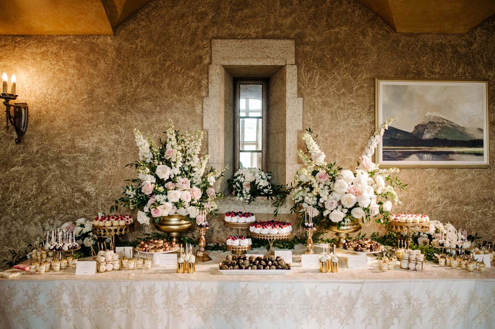 A Regal Fairytale Wedding in Banff, Alberta - Dessert Table