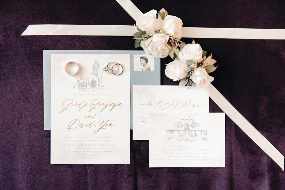 A Serene and Romantic Garden Wedding in Calgary - Stationery