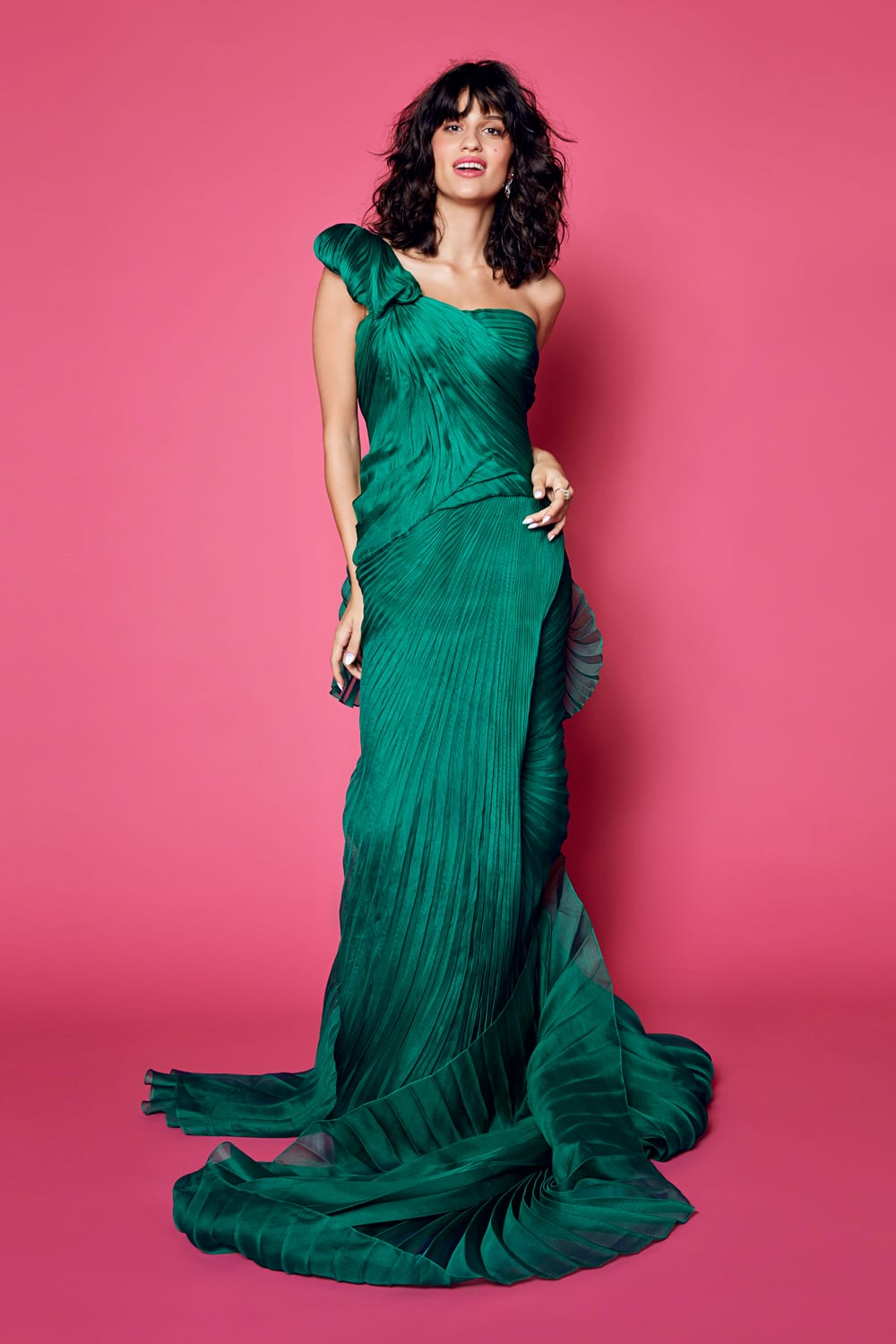 season's hottest bridal gown styles - green dress