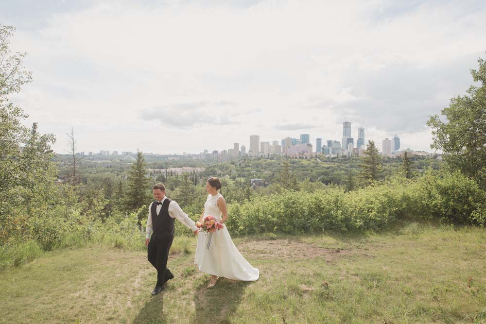 A Kate Spade Inspired Wedding in Edmonton, Alberta - In the clearing