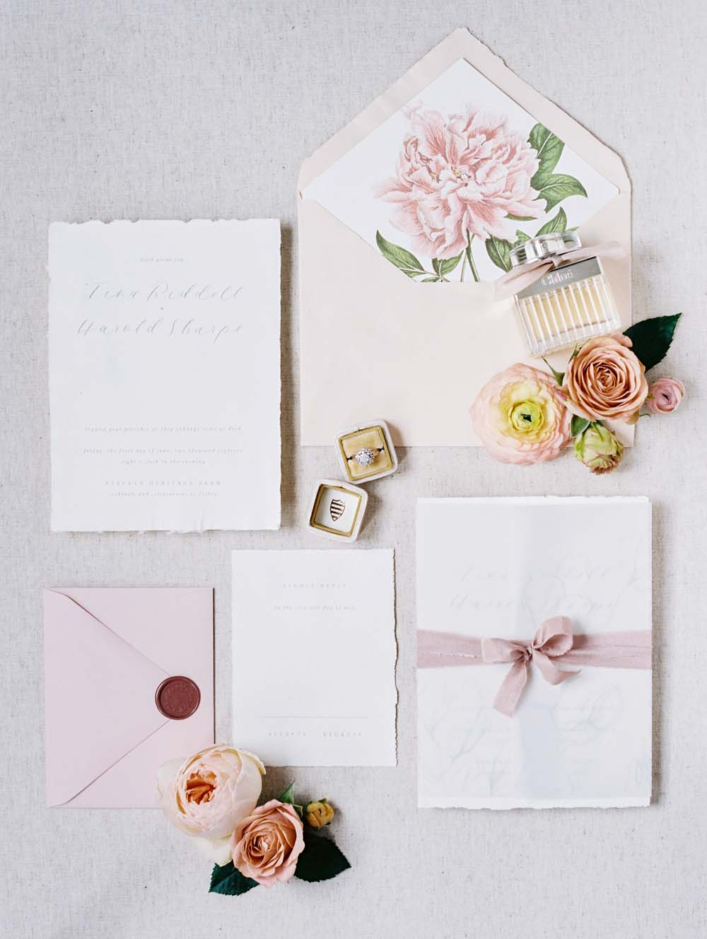 A Quirky Non-Traditional Wedding in Kitchener, Ontario - The invitations and ring