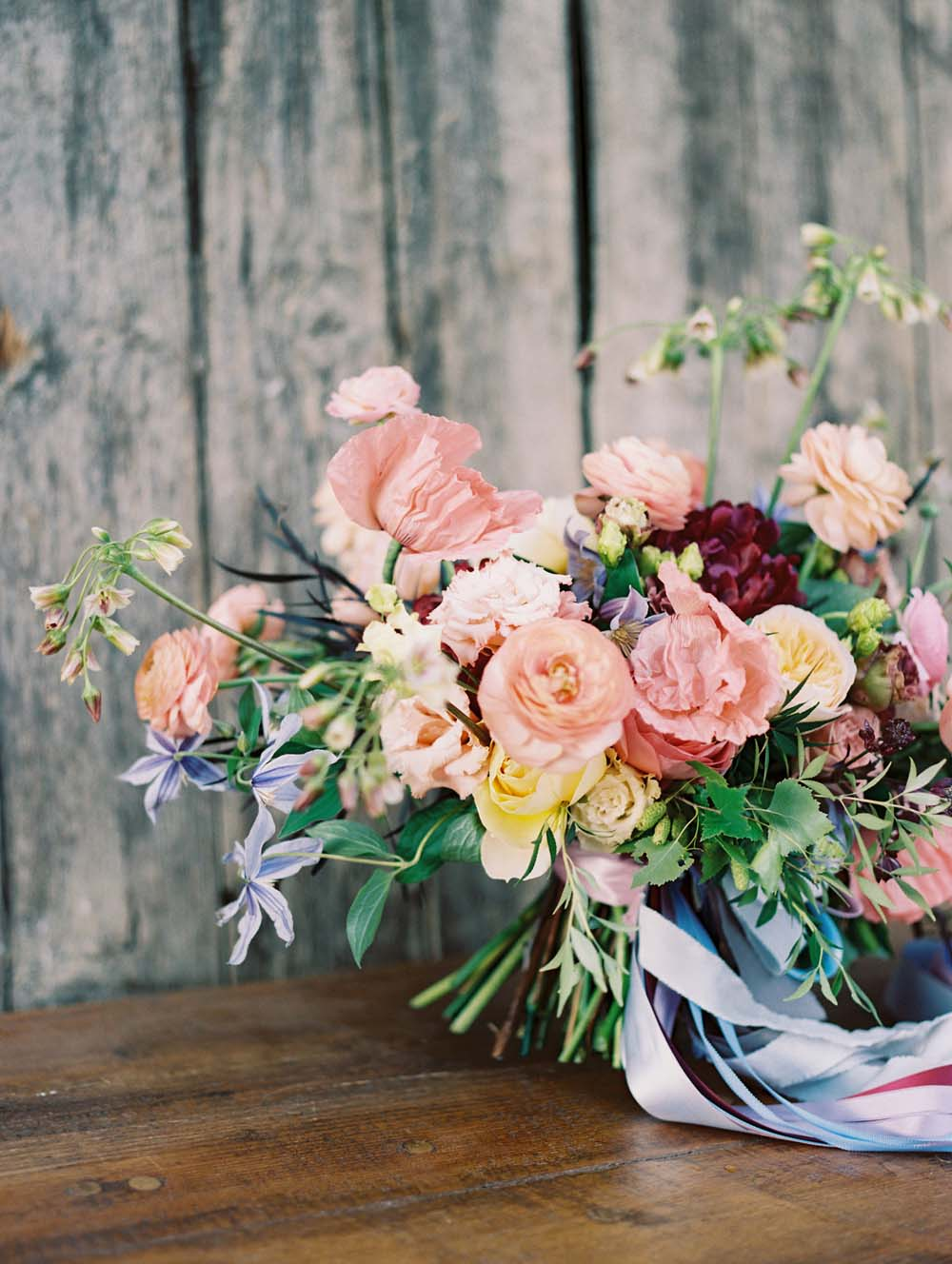 A Quirky Non-Traditional Wedding in Kitchener, Ontario - Floral table arrangement