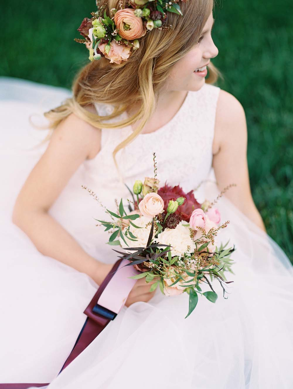 A Quirky Non-Traditional Wedding in Kitchener, Ontario - Flower girl