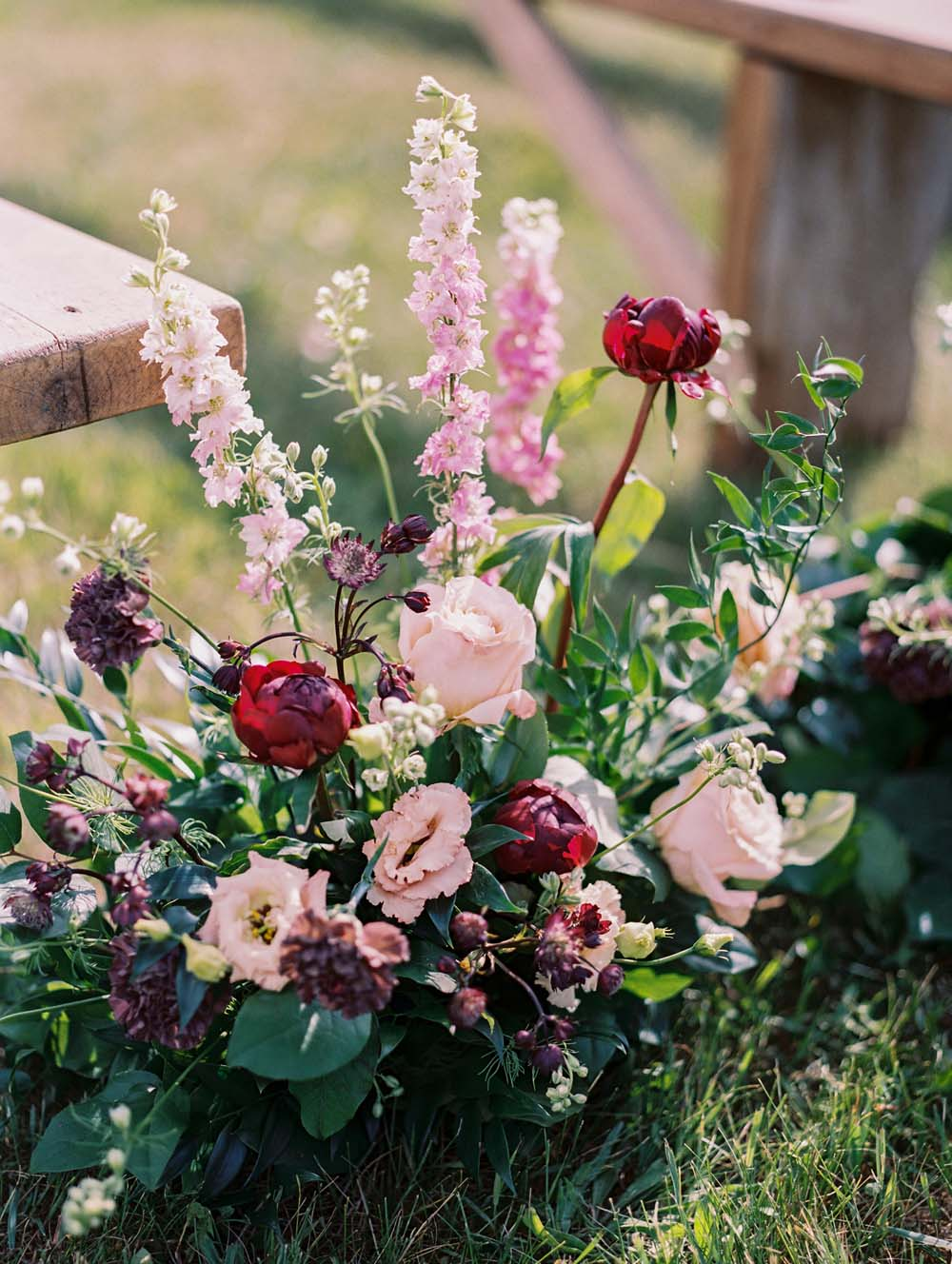 A Quirky Non-Traditional Wedding in Kitchener, Ontario - Floral aisle