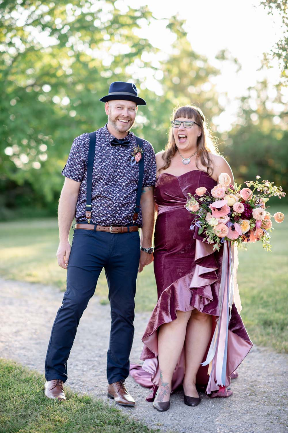 A Quirky Non-Traditional Wedding in Kitchener, Ontario - Mr and Mrs Sharpe