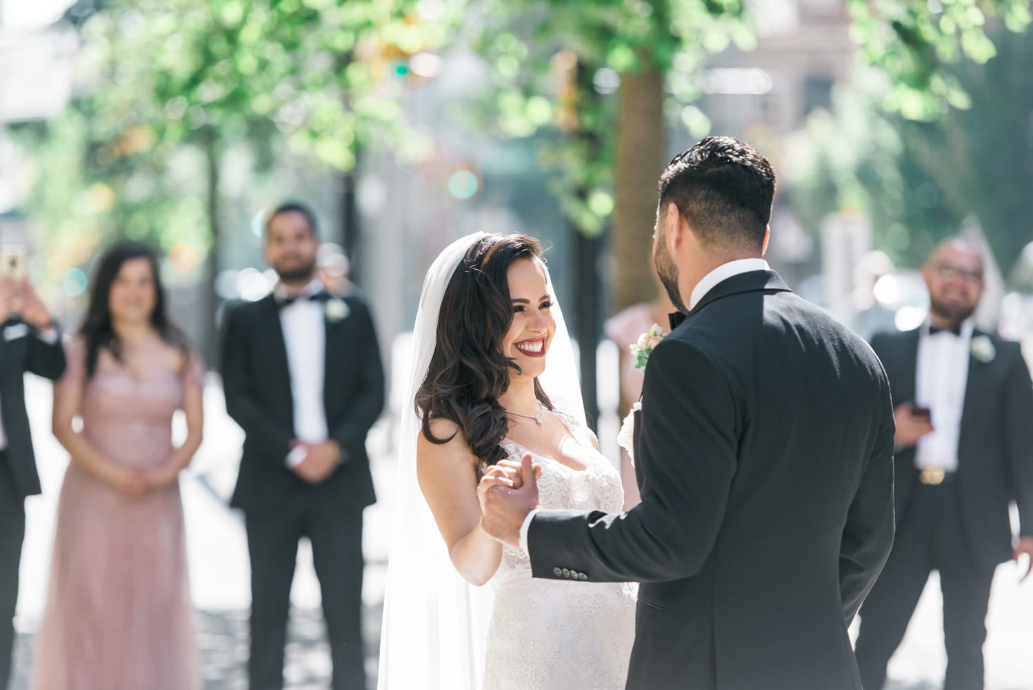 A Vintage Persian Wedding in Vancouver - Couple's first look