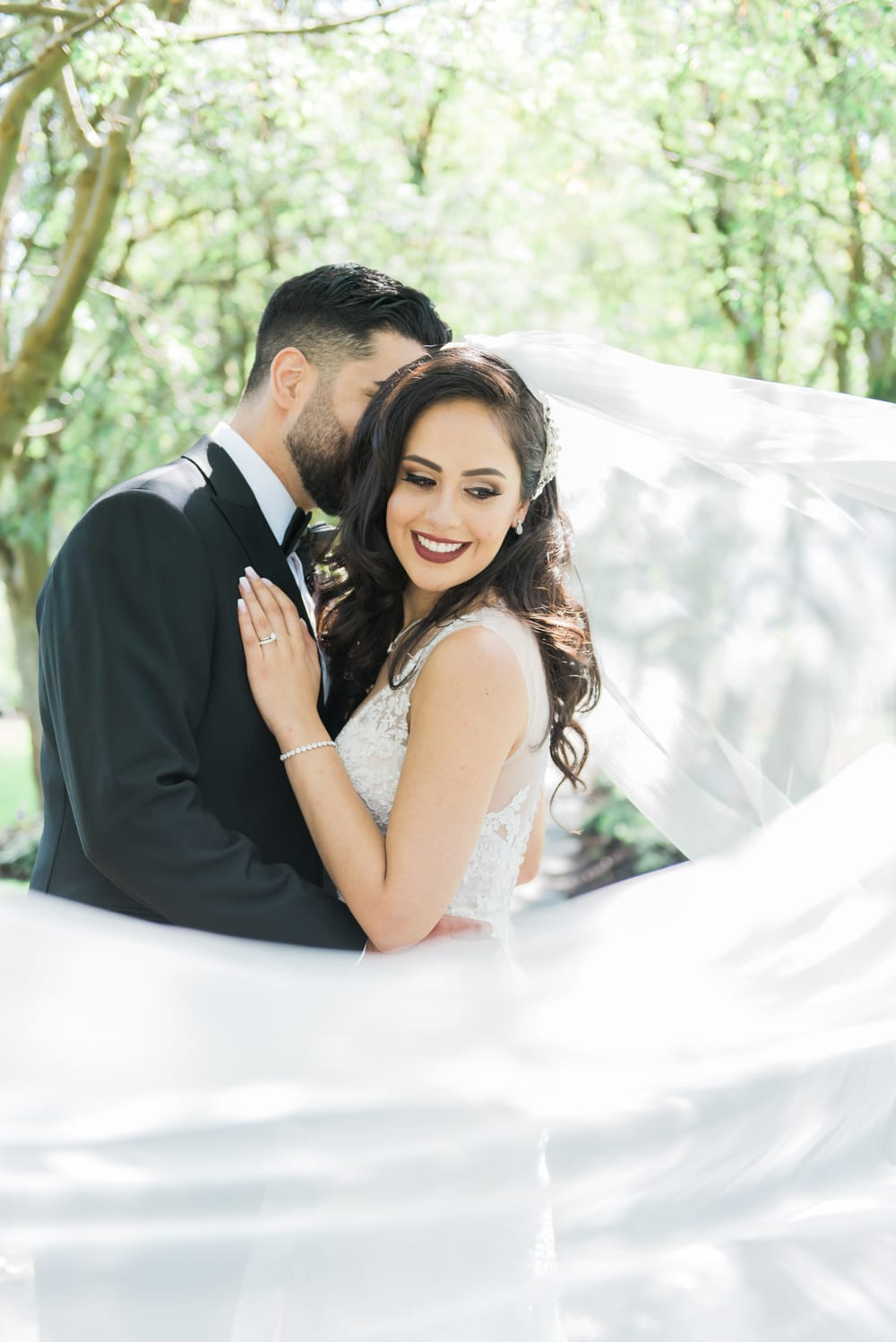 A Vintage Persian Wedding in Vancouver - Couple outside