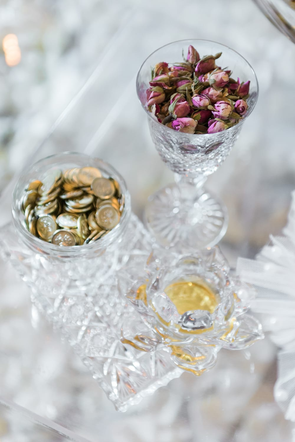 A Vintage Persian Wedding in Vancouver - Glass cups