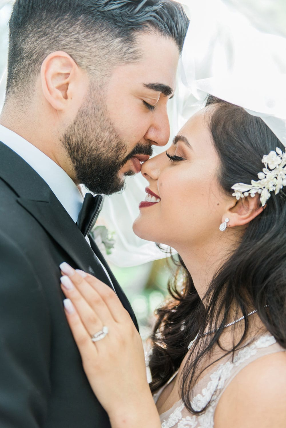 A Vintage Persian Wedding in Vancouver- Nose kiss