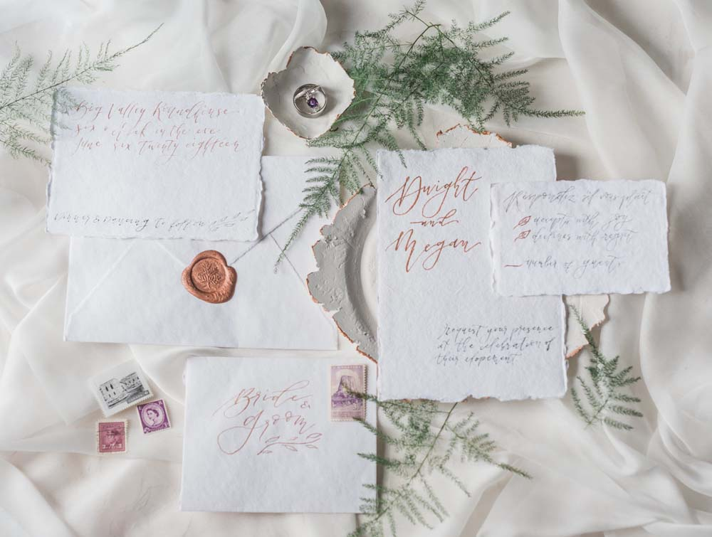 A Romantic Themed Shoot Inspired by Ruins - Letters