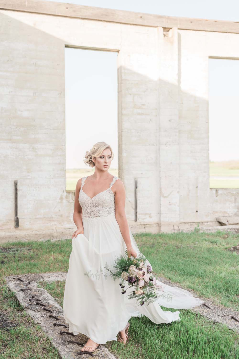A Romantic Themed Shoot Inspired by Ruins - Bride