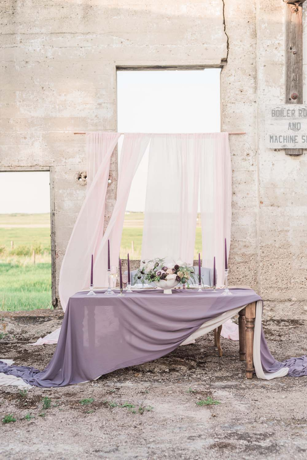 A Romantic Themed Shoot Inspired by Ruins - Table