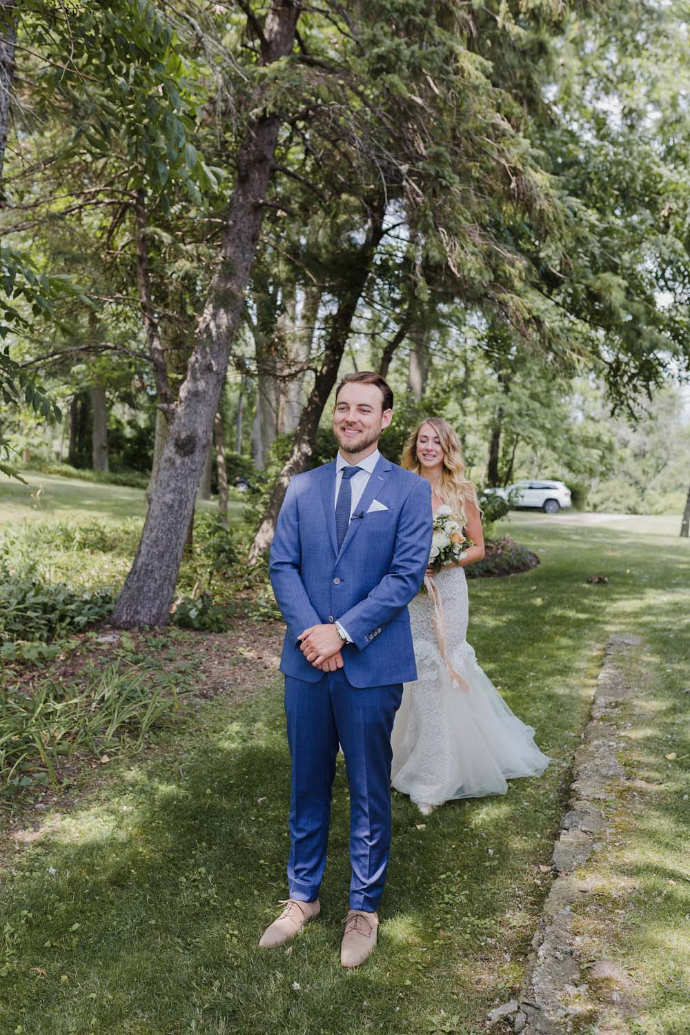 A Whimsical Wedding at Windmill Point, Ontario - First Look