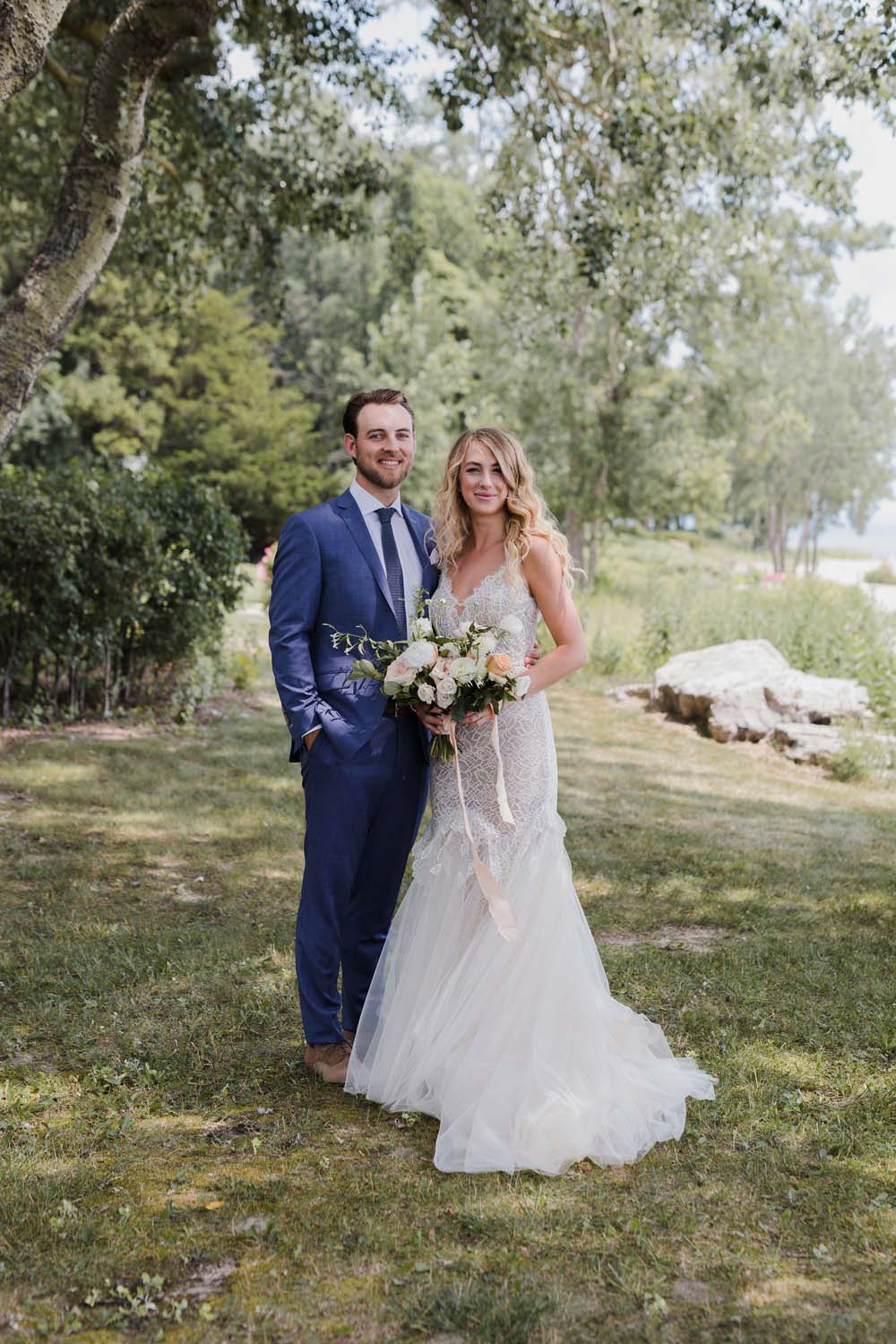 A Whimsical Wedding at Windmill Point, Ontario - Couple