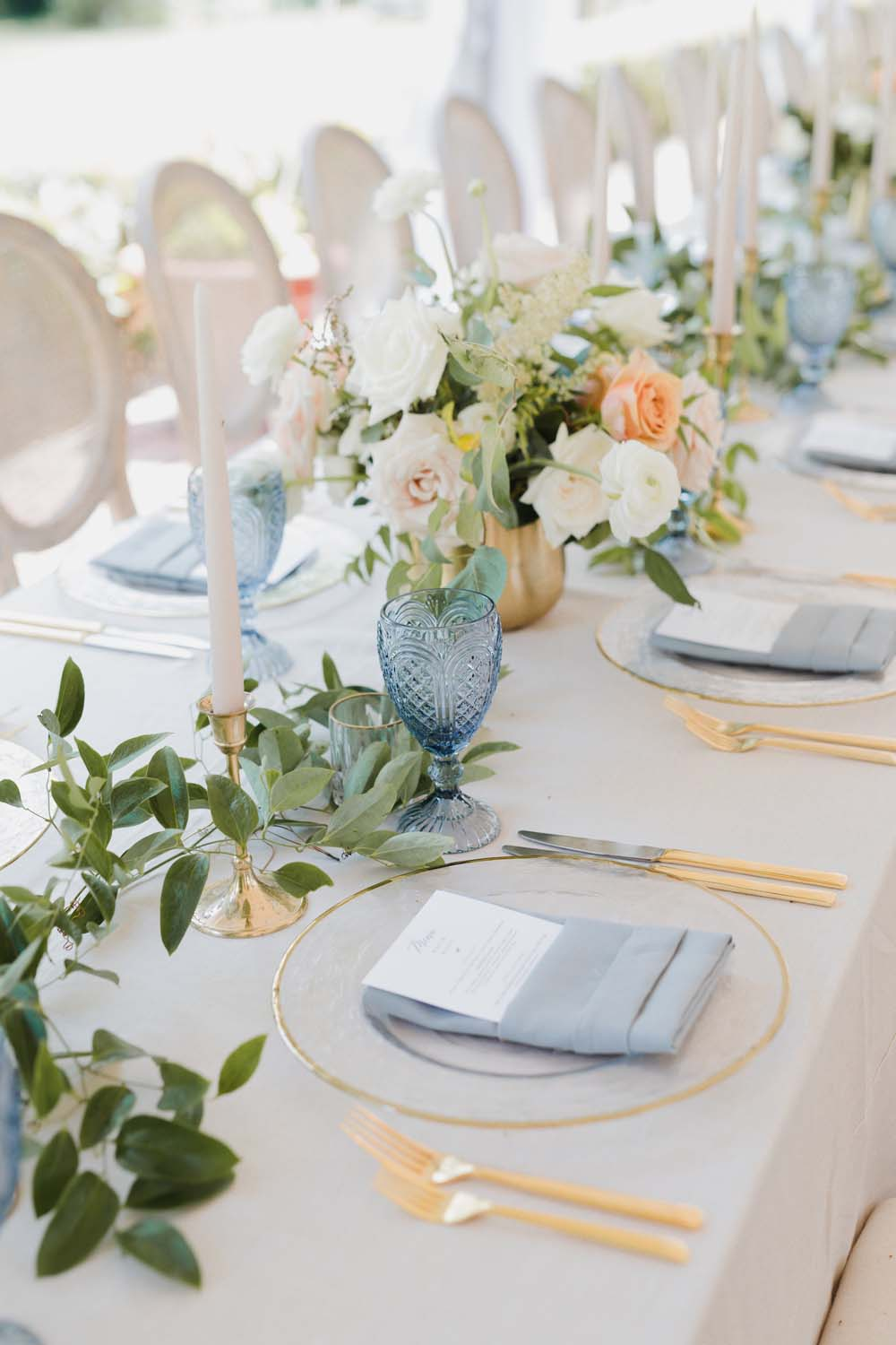 A Whimsical Wedding at Windmill Point, Ontario - Tablescape