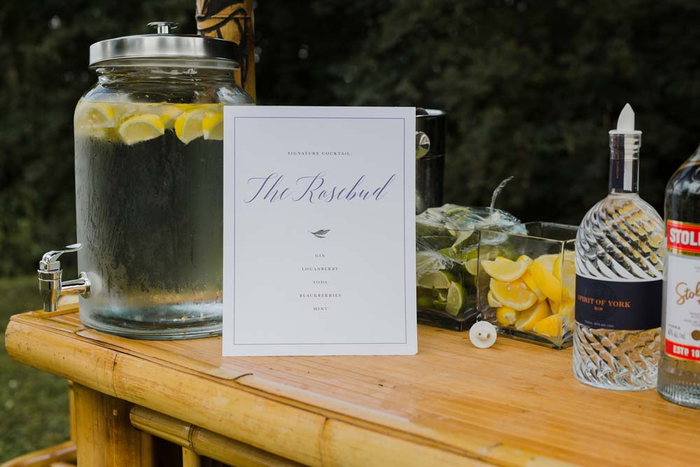 A Whimsical Wedding at Windmill Point, Ontario - Drinks