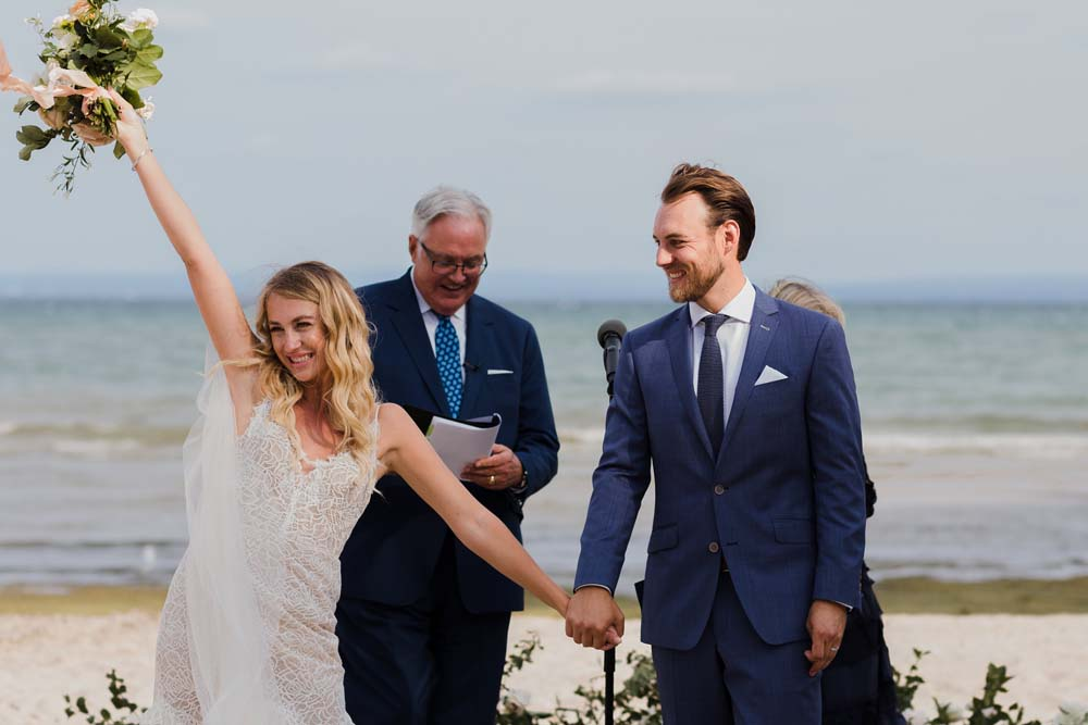 A Whimsical Wedding at Windmill Point, Ontario - Just Married