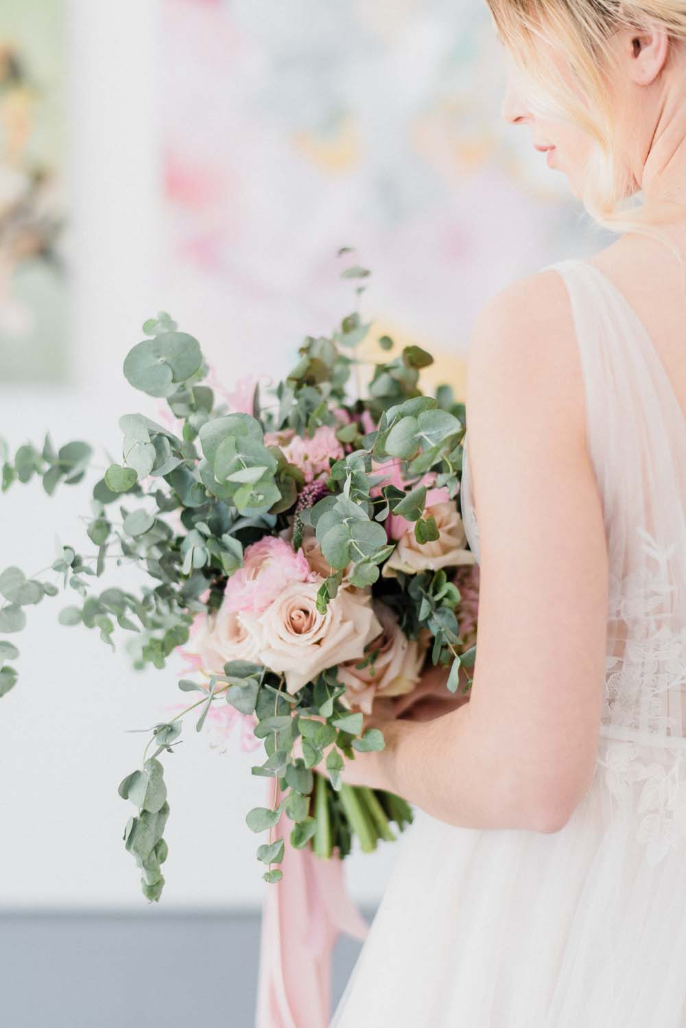 A Colourful Pink & Mauve Styled Shoot At The Art Gallery of Hamilton - Bride