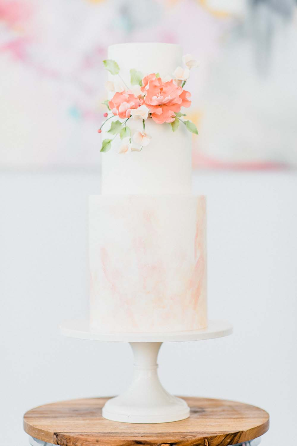 A Colourful Pink & Mauve Styled Shoot At The Art Gallery of Hamilton - cake